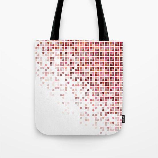 Red corner mosaic Tote Bag