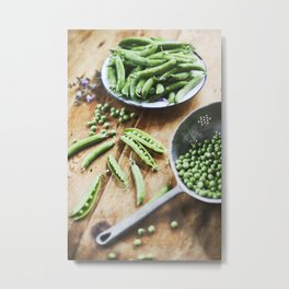 Green Peas. Metal Print
