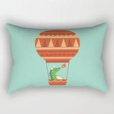Dragon On Hot Air Balloon Rectangular Pillow