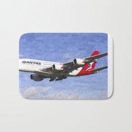 Qantas Airbus A380 Art Bath Mat