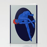 xmen Stationery Cards featuring Mystique - Xmen by HappyQiwi