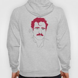 Blue-tooth pink mustache guy Hoody