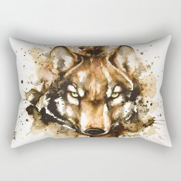 """""""Into the mirror"""" n°1 The wolf Rectangular Pillow"""
