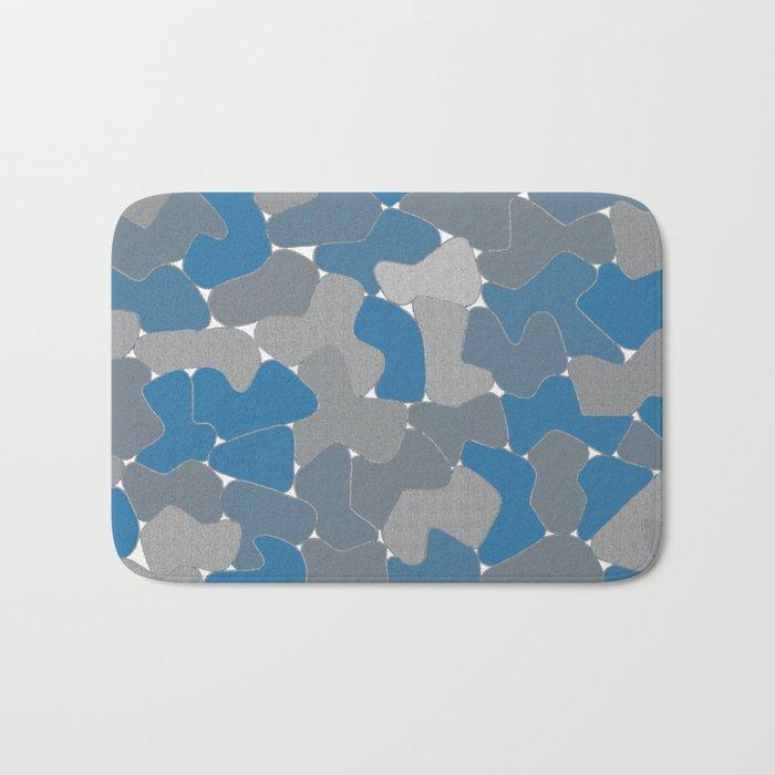 Blue Wall Etching Bath Mat