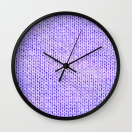 Periwinkle Knit Wall Clock