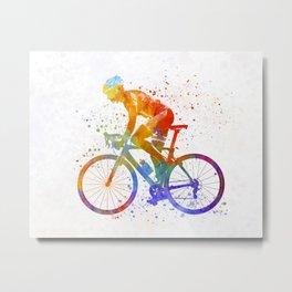 Woman triathlon cycling 01 Metal Print