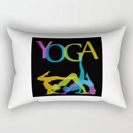 Yoga addicts Rectangular Pillow