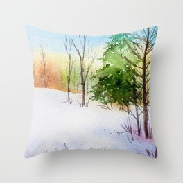 Winter scenery #14 Throw Pillow