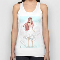 vocaloid Tank Tops featuring Luka Mergurine by Rinneii