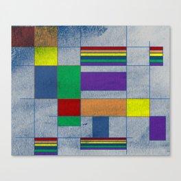 Mid-Century Modern Art - Rainbow Pride 1.0 Canvas Print