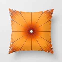 Orange Flower Throw Pillow