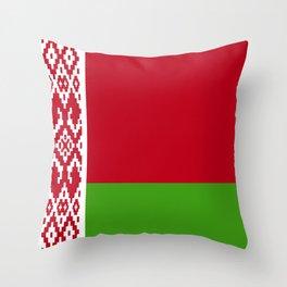 Belarus flag emblem Throw Pillow