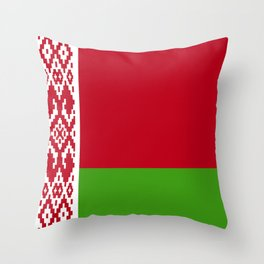 Belarus flag emblem Throw Pillow