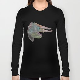 Happy Chameleon (watercolor) Long Sleeve T-shirt
