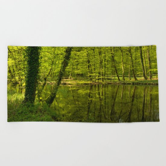 Forest lake pure relaxation for the Soul Beach Towel