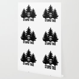 Disc Golf Shirt Discgolf Frisbee Stupid Tree Wallpaper