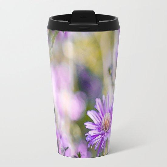 Summer dream - purple flowers - happy and colorful mood Metal Travel Mug