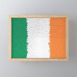 Extruded flag of Ireland Framed Mini Art Print