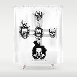 Appetite for Skulls Shower Curtain