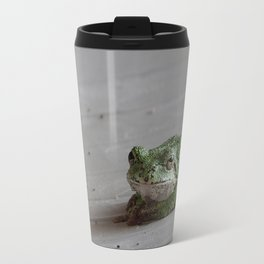 Smirking Grey Tree Frog Travel Mug