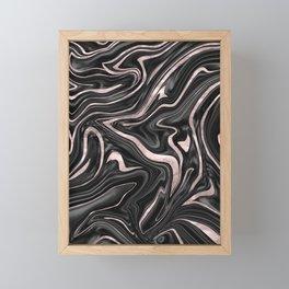 Black Gray White Rose Gold Marble #1 #decor #art #society6 Framed Mini Art Print