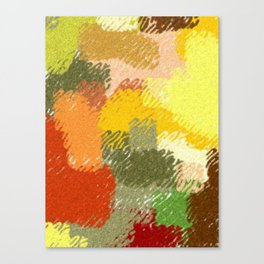 Abstract art watercolor art minimalist orange brown Canvas Print