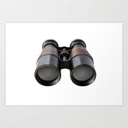 Vintage binoculars Art Print