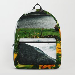 cottage in saksun faroe islands Backpack
