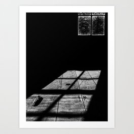 Shadows in the cabin Art Print