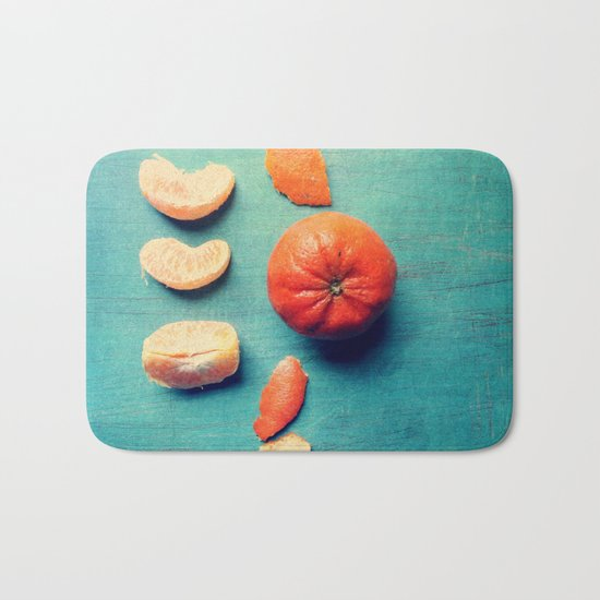 Orange Wedge Bath Mat