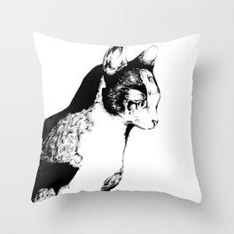 Ink Sketch - Cat Throw Pillow