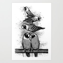black & grey  Art Print