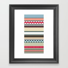 London Beauty stripe Framed Art Print