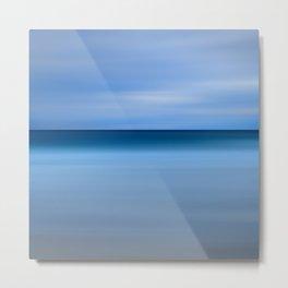 Beach Blues Abstract Photo Print Metal Print