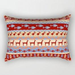 Inca Animals Fish and Birds Pattern Rectangular Pillow