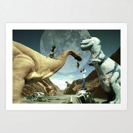 Dinosaur Road Trip Art Print