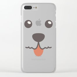 Dog Emoji Irish Wolfhound Clear iPhone Case