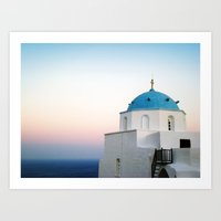 church.aegeansea.greece Art Print