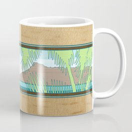 Ala Moana Diamond Head Hawaiian Surf Sign Coffee Mug