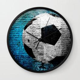 Soccer print variant 2 Wall Clock