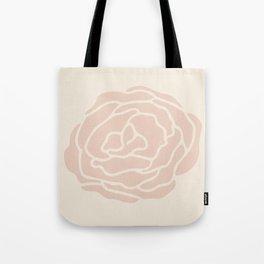 Rose Vintage Pink on Petal Cream Tote Bag