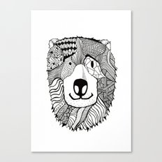 Bear Sketch Canvas Print