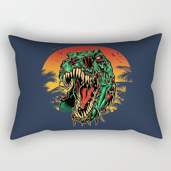 Zombie T-Rex Rectangular Pillow