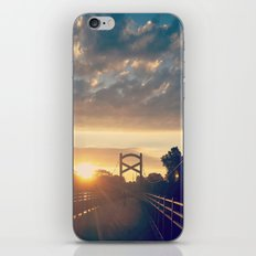 Sunrise At A Pedestrian Bridge iPhone & iPod Skin