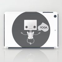 yoga iPad Cases featuring Yoga by Duan Riley