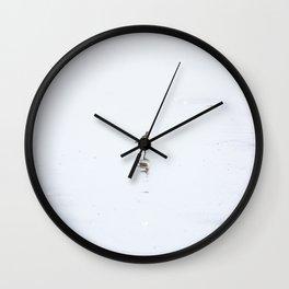 Sleeping Sandpiper - Minimalism Photo of Ocean Bird on Beach Wall Clock
