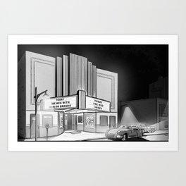 1950's Movie date Art Print