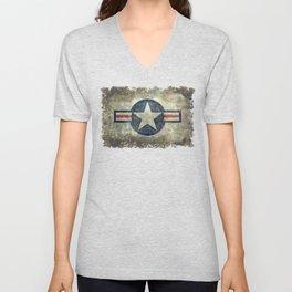 US Air force style insignia V2 Unisex V-Neck