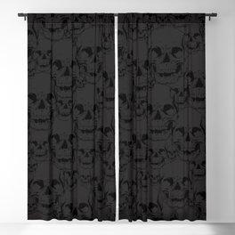 Dark Skulls Blackout Curtain