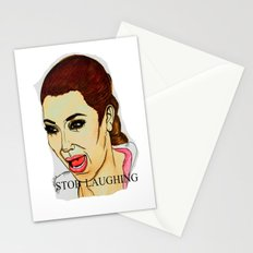 Kim ugly crying Stationery Cards
